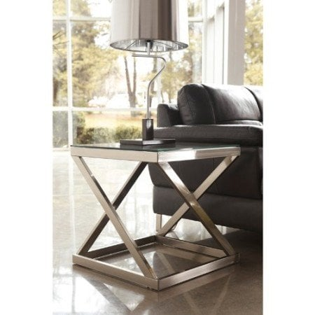 glass lamp end table