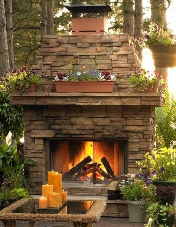 8 Outdoor Wood Fireplace Ideas For Summer Entertaining Decorated Life