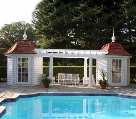Poolshide shed
