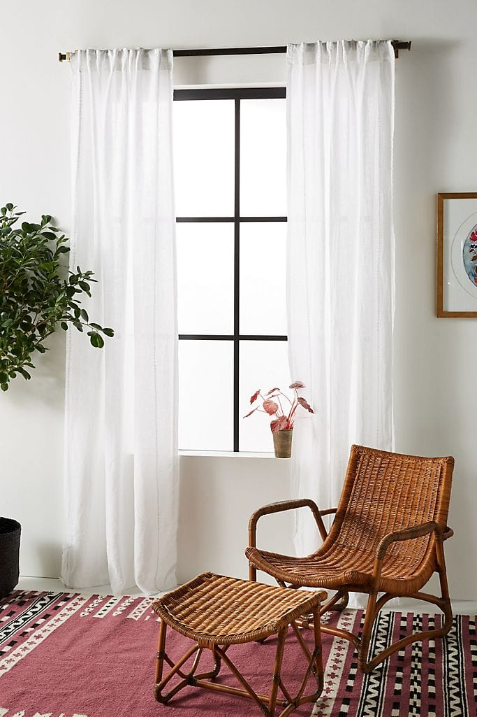 what color curtains to go with a brown
