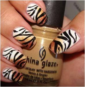 uñas decoradas animal print 4