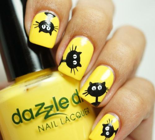 uñas decoradas con gatos 13