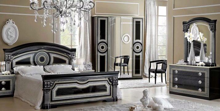 تصميم غرفة نوم سوداء 56 صورة غرفة نوم بألوان داكنة مع ذهب