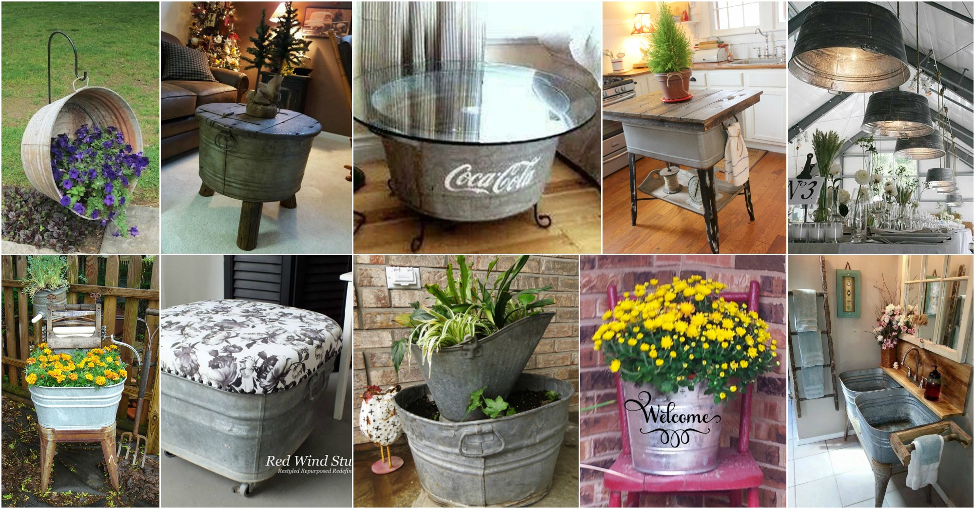 15 Astonishing Wash Tubs Reuse Ideas