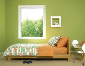 Green Painted Bedroom
