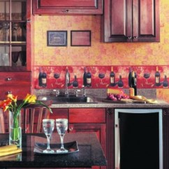 Wall Paper Borders For Kitchens French Style Kitchen Furniture Border Ideas A Personalized Wine Styled Wallpaper