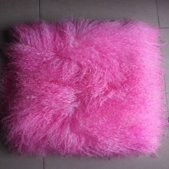 Buy Chair Covers Cheap Dog Beds Dye Pink Mongolian Fur Pillow Cover Decorative Throw Pillows New Cushion For Sofa ...