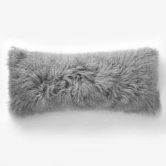Dining Chair Covers Grey Used Barber Chairs For Cheap Light Gray Tibetan Pillow Cover Mongolian Lamb Fur Cushion Sofa Decorative Throw ...