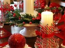 Christmas Table Ideas: Decorating with Red and White
