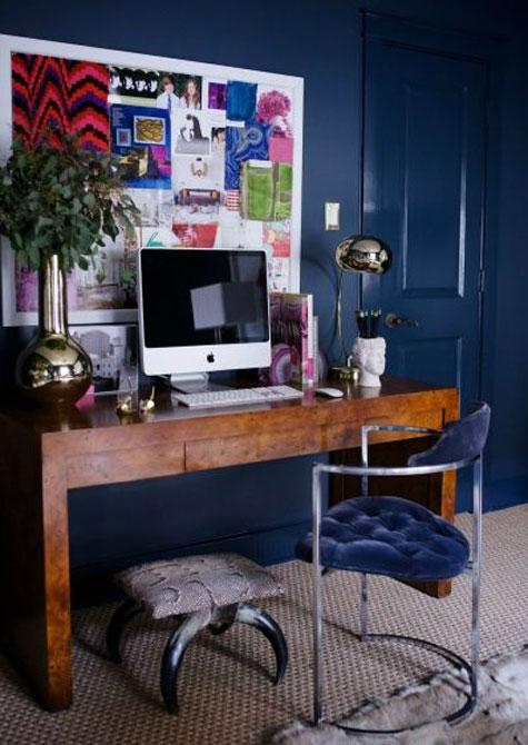 Navy Blue Desk Chair