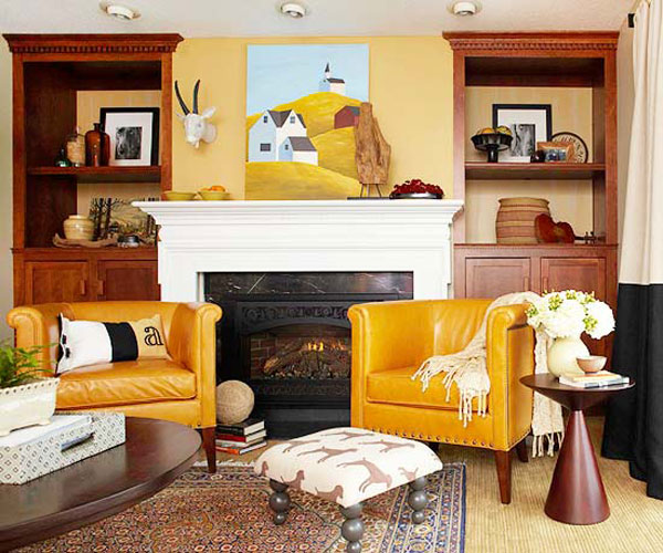 brown and orange living room ottomans fall colors decor with red gold decorating files