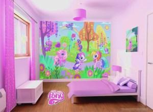 pony mural setting murals childrens