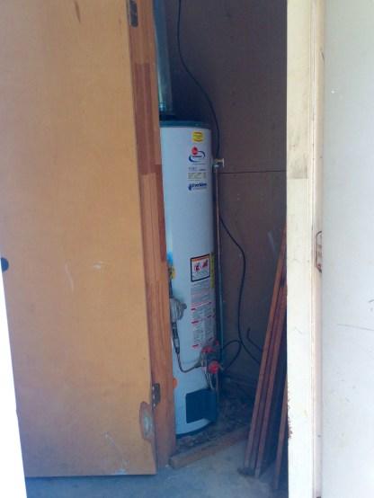 a water-heater closet