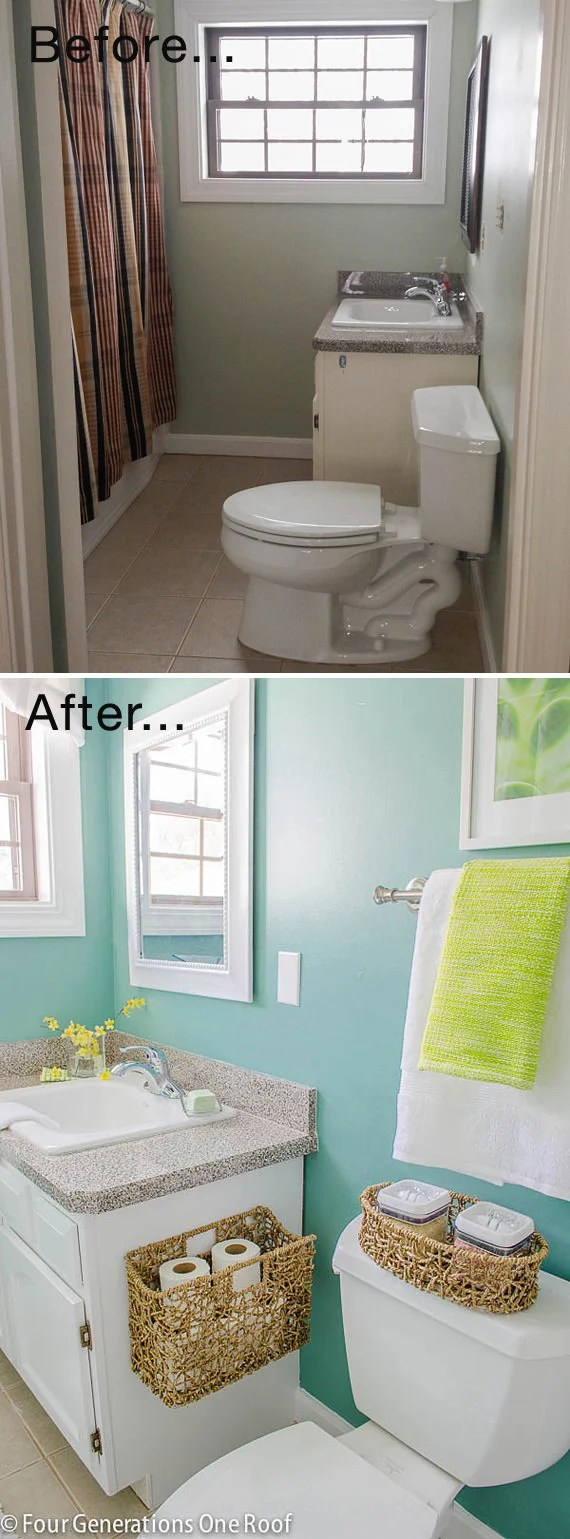 Tiny Bath Makeovers  Decorating Your Small Space
