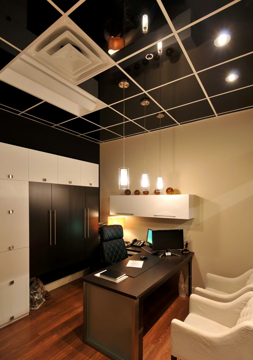 Photos de plafond platre pour bureau  Decoration plafond