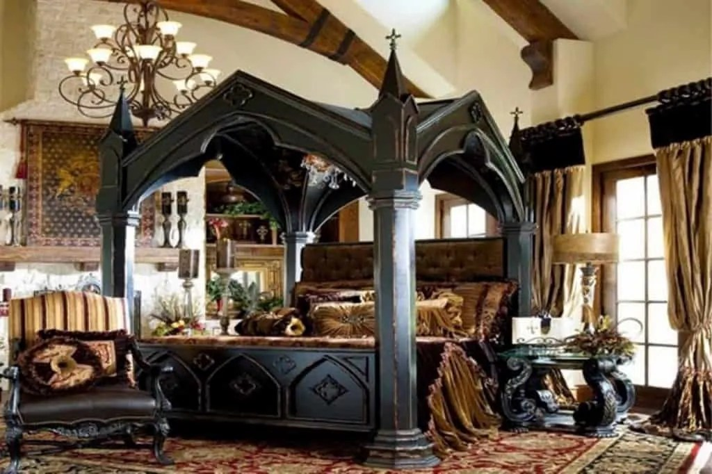 full length mirror in living room brown and turquoise 20 best gothic bedroom ideas - decoration channel