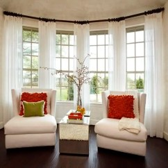 Living Room Curtain Ideas For Bay Windows Furnishings 30 Of Window Decoration Channel White