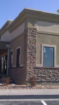 Brick and Stucco Industrial Exterior Design