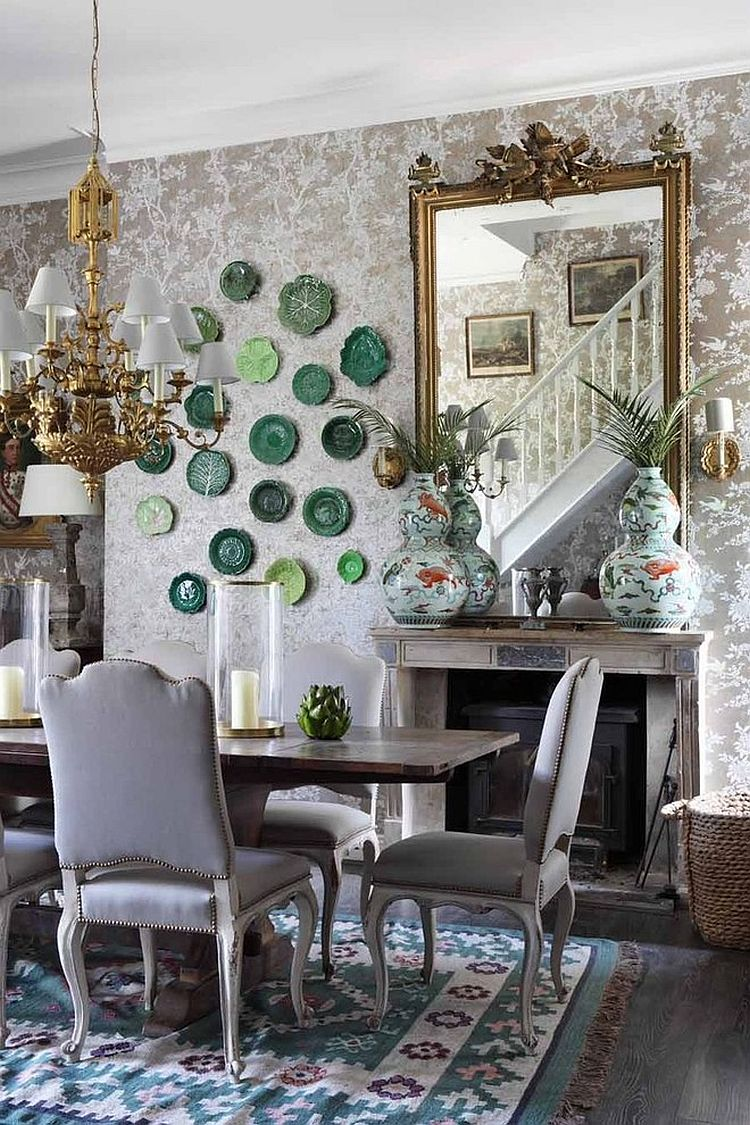 Floral ShabbyChic Style Dining Room Design