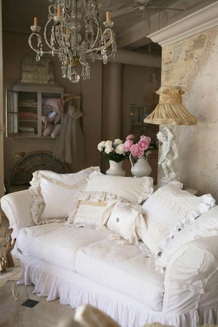 French ShabbyChic Style Living Room Design