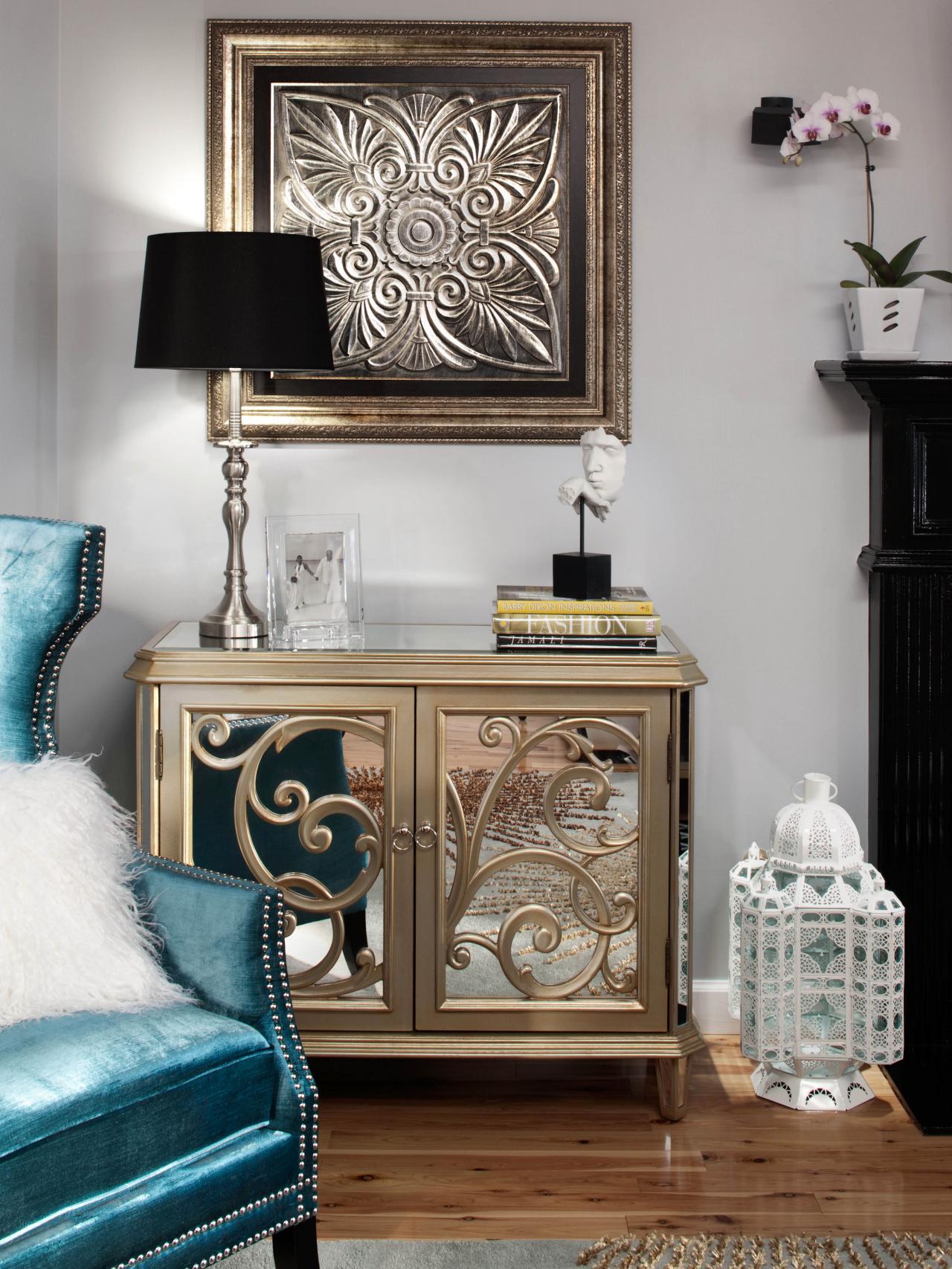 Glamorous Transitional Living Room Design Ideas