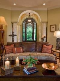 Pretty Mediterranean Living Room Design