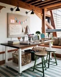 Rustic Home Office Design Ideas