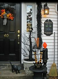Front Porch Gothic Halloween Decorations