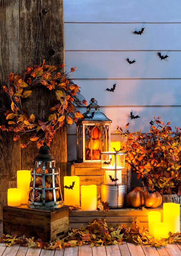 Front Porch Halloween Lights Decorations