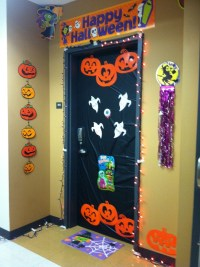 Funny Halloween Door Decorations for Kids