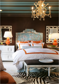 Orange and Turquoise Bedroom Ideas