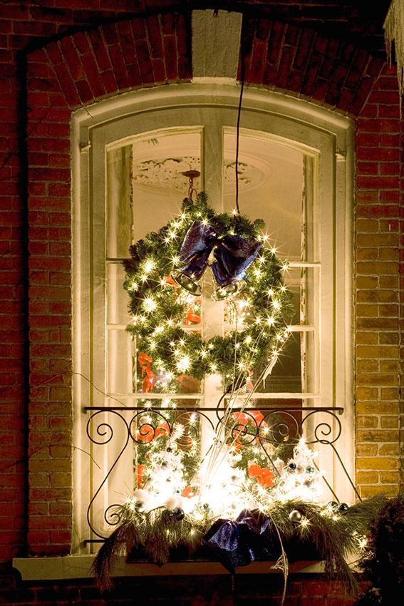 Christmas Window Wreath Decorations