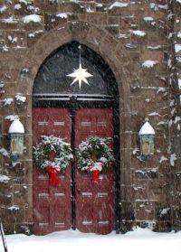Church Doors at Christmas