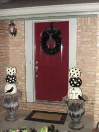 Dark Red Front Door