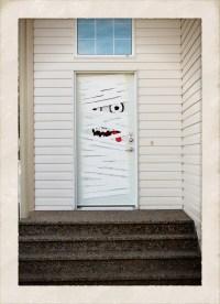 Front Door Halloween Decoration DIY