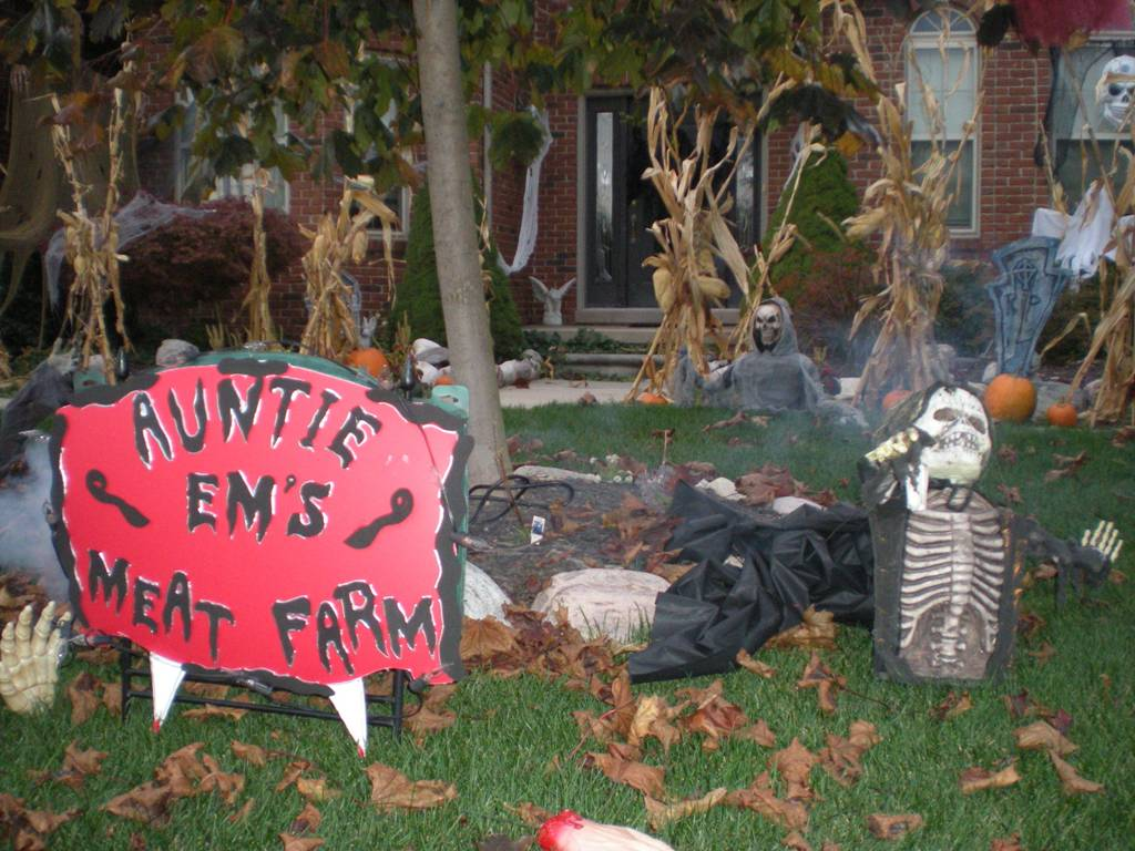 Homemade Nightmare Before Christmas Yard