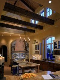 Tuscan Kitchen Wood Ceiling Beams