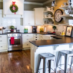 Pottery Barn Kitchens Kitchen Island With Cabinets Christmas Decor