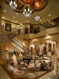 high-ceiling-living-room-design-and-stairs
