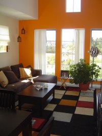 living-room-with-orange-walls