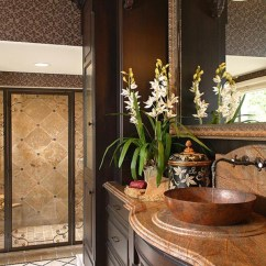 Interior Designing For Living Room With Dark Leather Couch Tuscan-bathroom-design-ideas