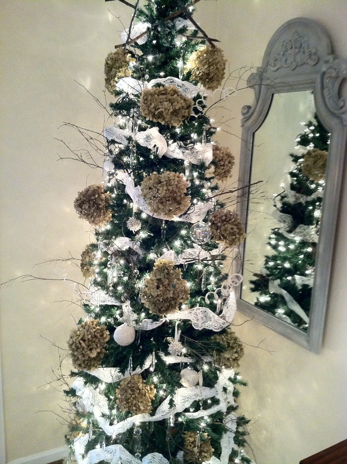 Chandelier Crystal Christmas Tree On A Budget