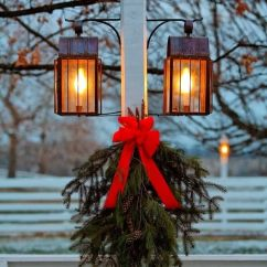 Living Room Closet Ideas Island Inspired Furniture Christmas-decorated-lamp-post