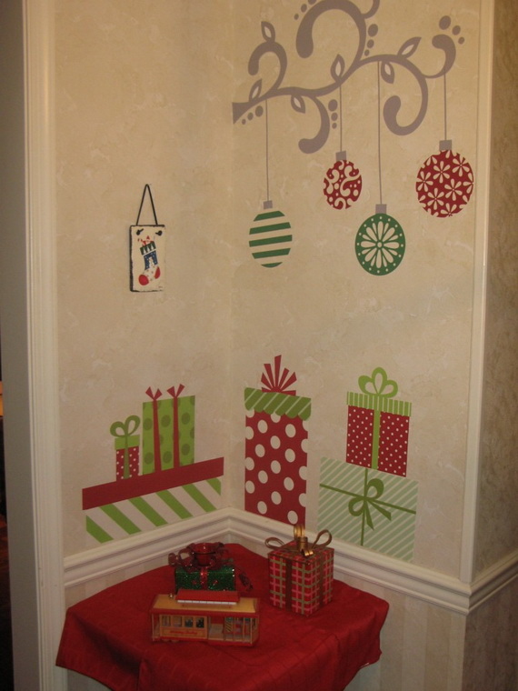 40 Quick  Easy Christmas Wall Decorations Ideas