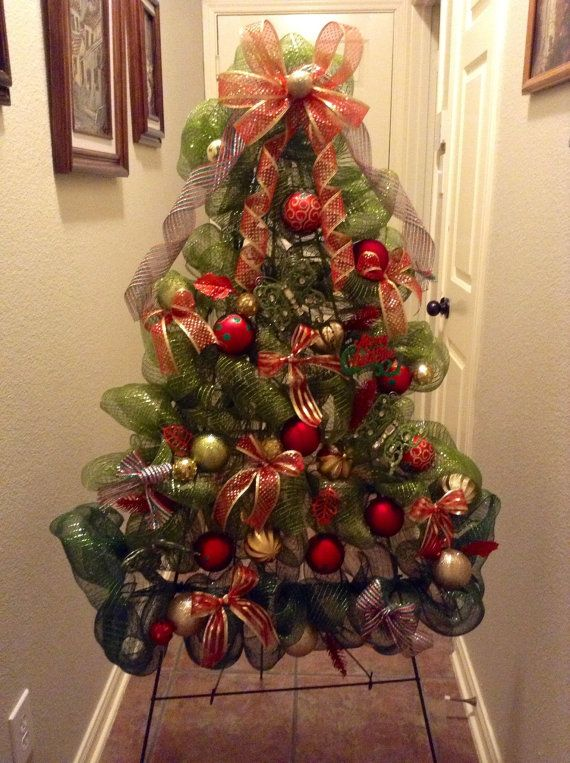 christmas decorating ideas for the kitchen home depot kohler sinks christmas-tree-with-deco-mesh-real-ideas