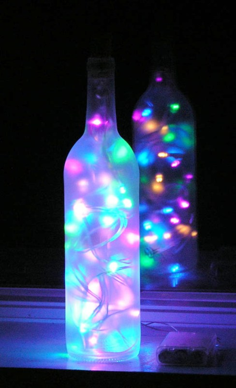 white wall decorations living room how to decorate craft-wine-bottles-with-lights-inside