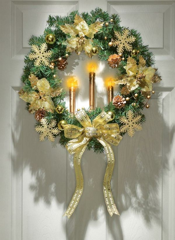beautiful living room home interior decorations curtain style in outdoor-lighted-christmas-wreaths