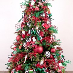 Ideas To Decorate Living Room Cheap Small Decorating Photos Red-and-green-christmas-tree-decorations