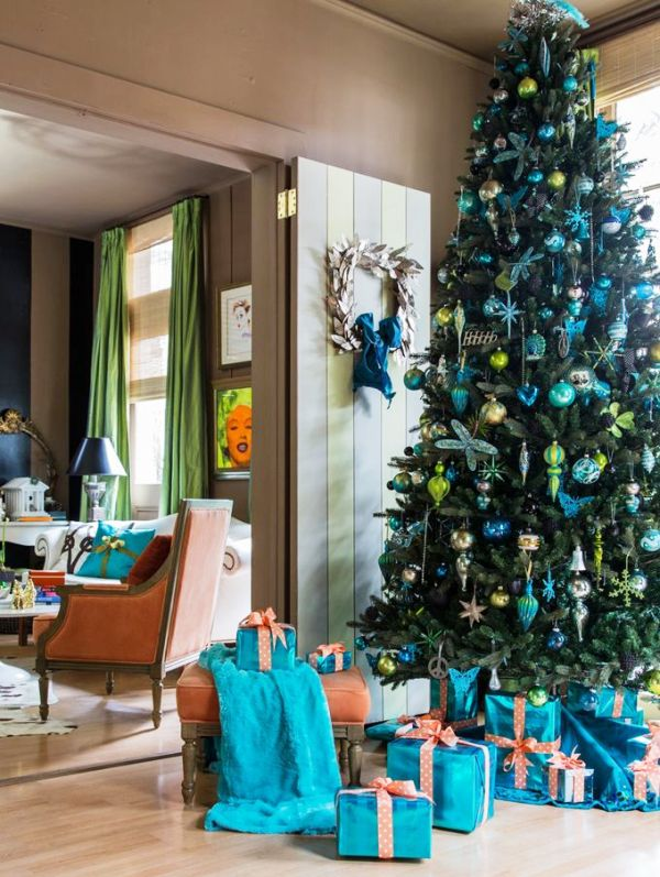 33 Turquoise Christmas Tree Decorations Ideas  Decoration Love