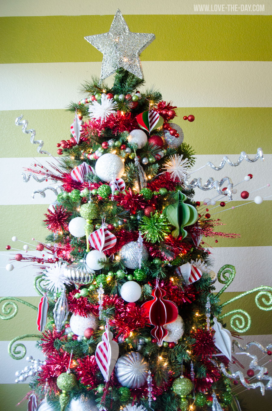Whimsical Christmas Tree Decorating Idea